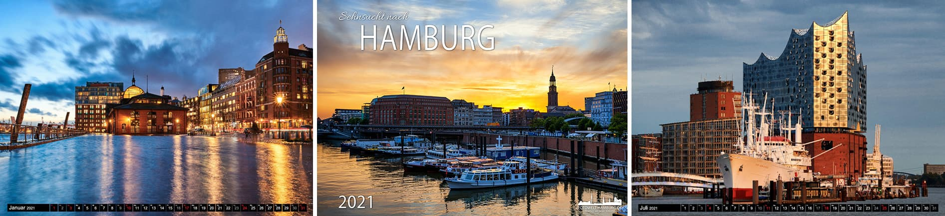 Hamburg Kalender 2021 - Hamburg Wandkalender online bestellen