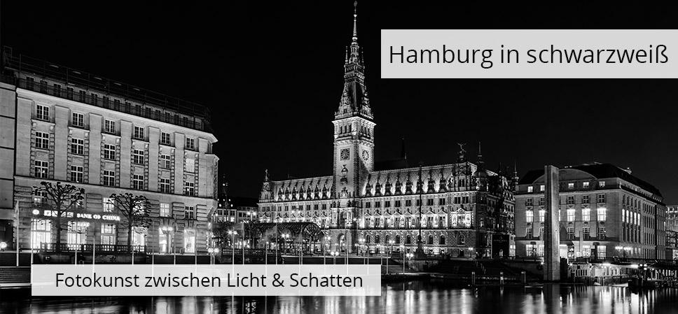 Hamburg Bilder in schwarzweiß - jetzt bestellen auf Leinwand, Alu-Dibond, Acrylglas