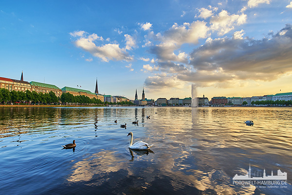 hamburg alster bilder und fotos leinwandbilder acrylglas poster. Black Bedroom Furniture Sets. Home Design Ideas